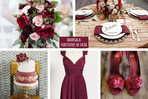 Marsala Weddings :: Color Palette