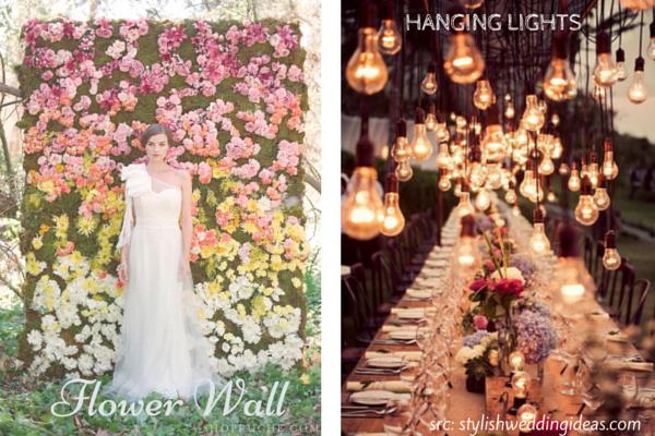 Wedding Decor Trends :: Flower Wall