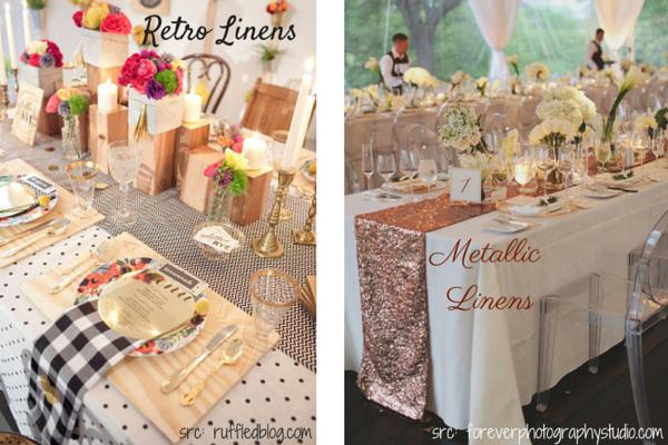 Wedding Linens :: Retro :: Metallic