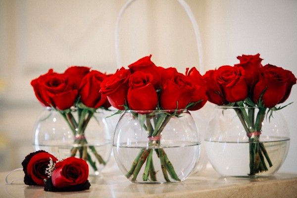 Rose Centerpieces :: Wedding Flowers :: Las Vegas Wedding Receptions