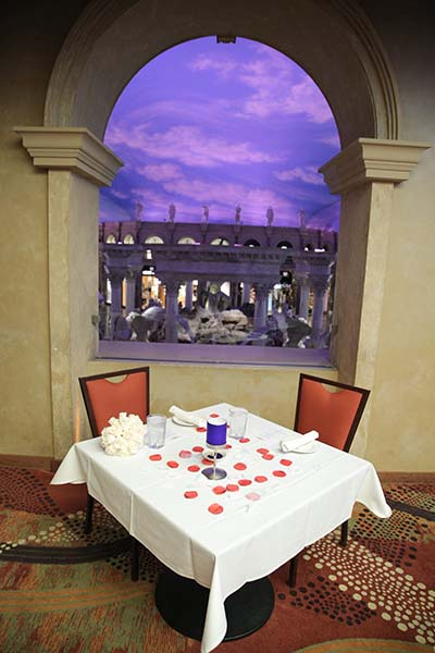 Intimate Dinner for Two Wedding Reception in Las Vegas