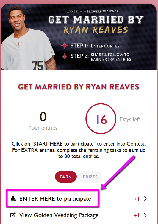 Get Married by Ryan Reaves | Contest Instructions