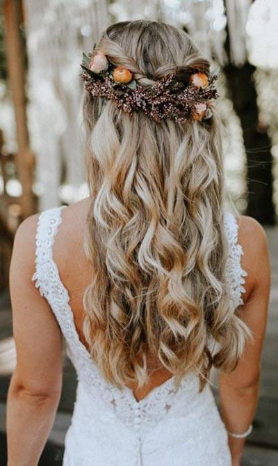 Soft Curls Wedding Hair | Relaxed Wedding Hairstyle | Fall Wedding Hair | Fall Wedding Ideas