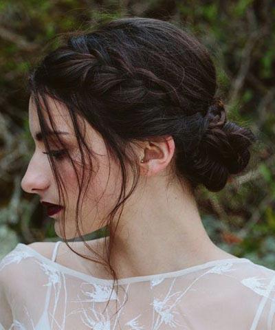Braided Bun | Fall Wedding Hair | Fall Wedding Ideas