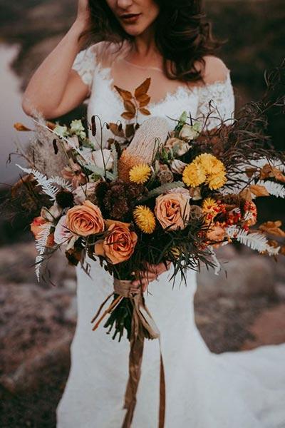 Burnt Orange Bouquet | Bridal Bouquet | Fall Wedding Flowers | Fall Wedding Ideas