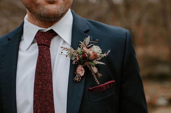 Fall Boutonniere | Boutonniere Ideas | Fall Wedding Flowers | Fall Wedding Ideas