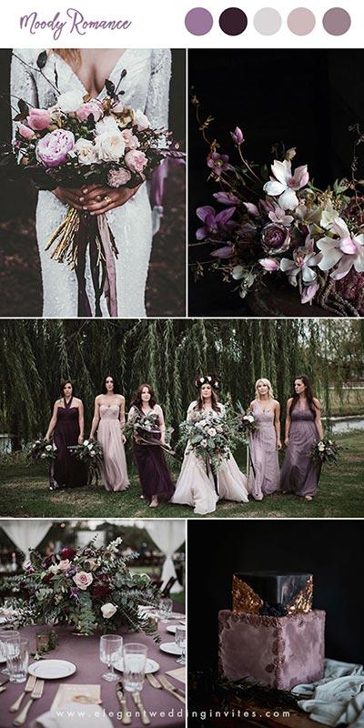 Purple Wedding | Dusty Purple Color Palette Fall | Wedding Color Themes | Fall Wedding Ideas