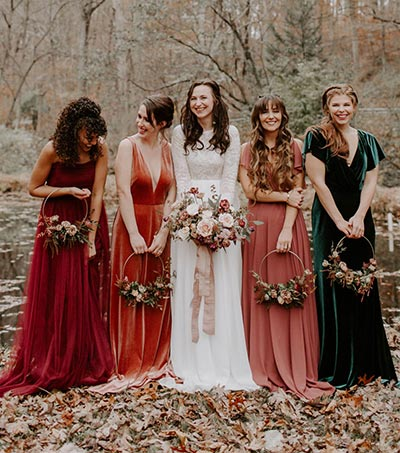Fall Bridesmaid's Bouquet | Floral Hoop | Bridesmaids Bouquet Ideas | Fall Wedding Flowers | Fall Wedding Ideas