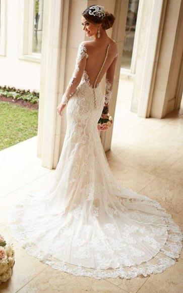 Lace Long Sleeve Wedding Dress | Stella New York | Fall Wedding Gowns | Fall Wedding Ideas