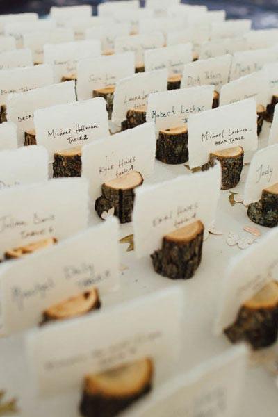 Rustic Name Cards | Fall Wedding Decor | Fall Wedding Ideas