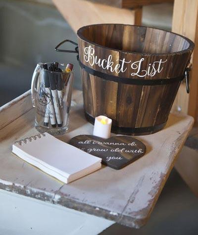 Unique Guest Book | Bucket List | Fall Wedding Décor | Fall Wedding Ideas