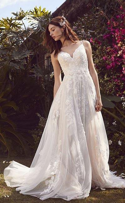 A-Line Wedding Dress | Melissa Sweet | Fall Wedding Gowns | Fall Wedding Ideas