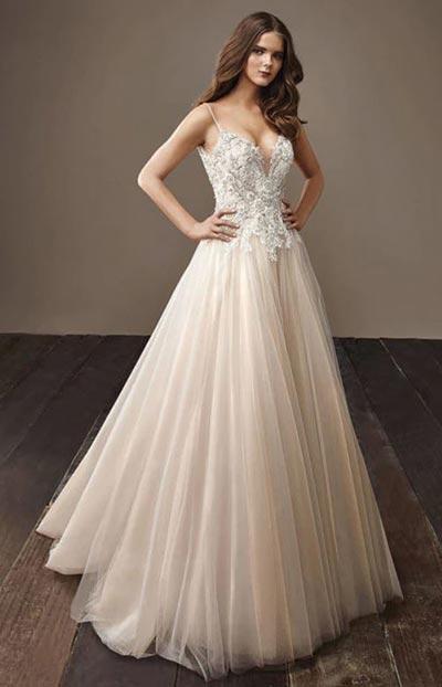Champagne Wedding Dress | Badgley Mischka | Fall Wedding Gowns | Fall Wedding Ideas