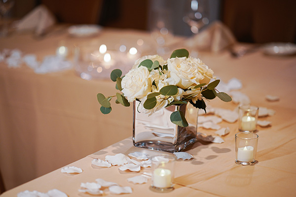 Reception Centerpiece | Simple Centerpieces | Gatsby Weddings