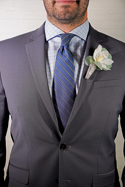 Boutonniere | Chapel of the Flowers | Gatsby Weddings