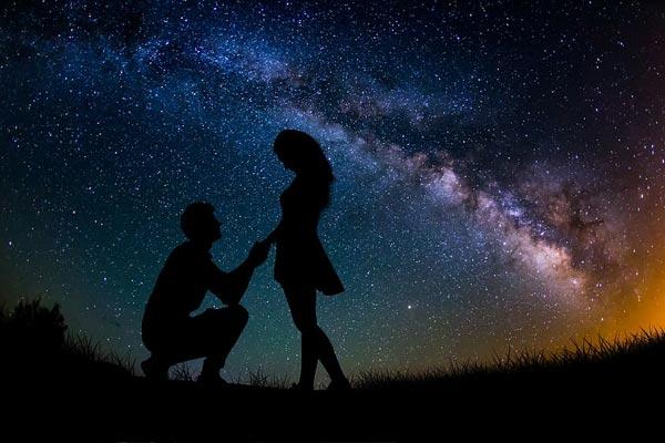 Wedding on Mars | Stargazing Proposal