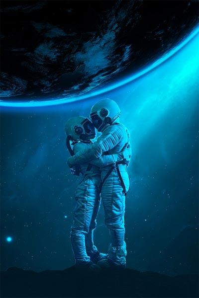 Wedding on Mars | Astronaut Couple | Space themed Wedding