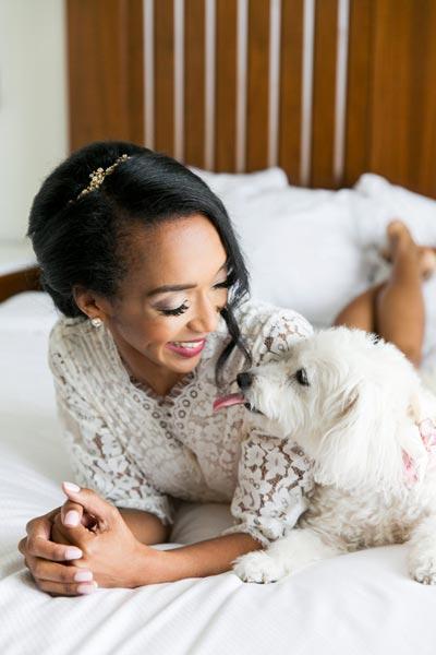 Get Ready Wedding Photos with Dog | Dog Wedding Ideas