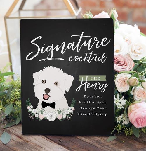 Dog Signature Drink | Dog Wedding Ideas