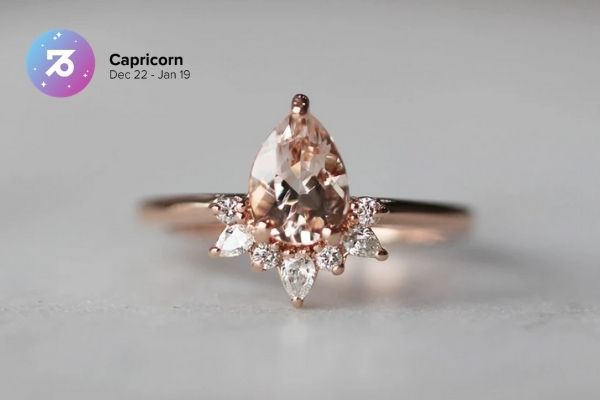 Capricorn Engagement Ring | Zodiac Engagement Rings | Engagement Rings Based on Horoscope