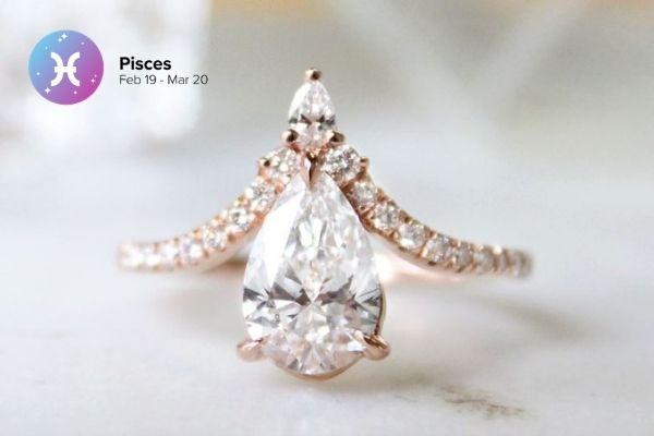 Pisces Engagement Ring | Zodiac Engagement Rings | Engagement Rings Based on Horoscope