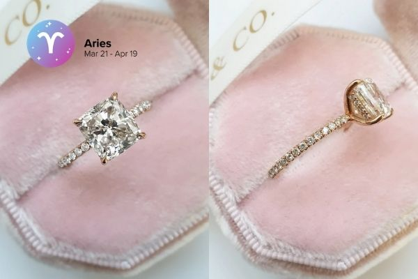 Aries Engagement Ring | Zodiac Engagement Rings | Engagement Rings Based on Horoscope