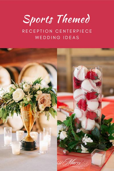 Sports Themed Centerpieces | Trophy Wedding Centerpiece | Sports Themed Wedding Ideas
