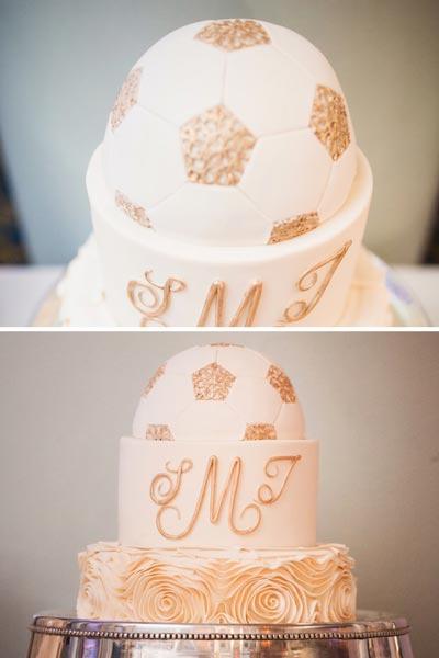 Elegant Sports Wedding Cake | Soccer Wedding Cake | Sports Themed Wedding Ideas