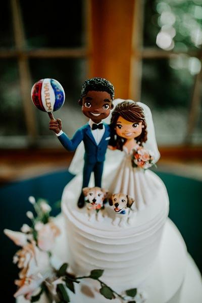 Sports Cake Topper | Basketball Wedding Cake Topper | Sports Themed Wedding Ideas