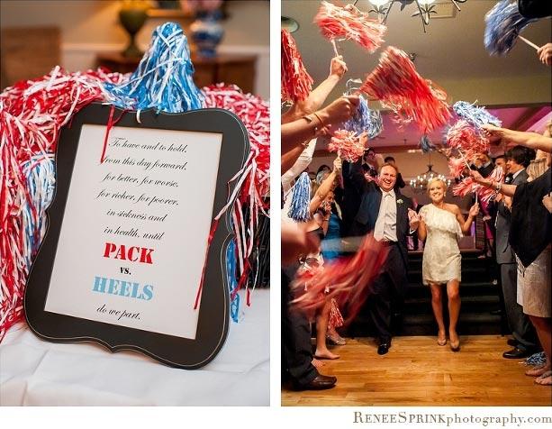 Wedding Pom Poms | Sports Themed Wedding Ideas