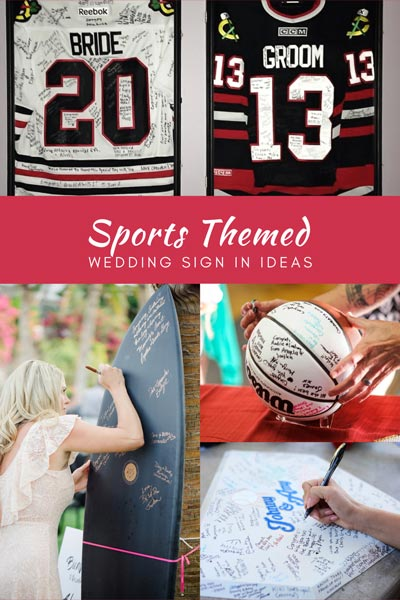 Sports Wedding Sign in Book Ideas | Sports Themed Wedding Ideas