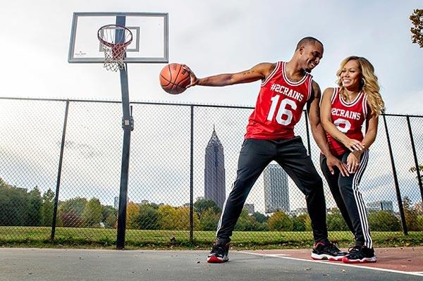 Basketball Engagement Photo Idea | Sports Themed Wedding Ideas