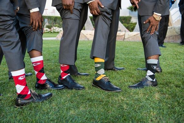 Sports Wedding Socks | Sports Themed Wedding Ideas