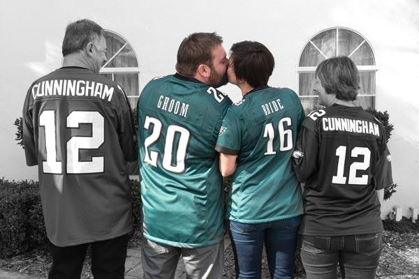 Custom Wedding Jerseys | Sports Themed Wedding Ideas
