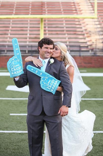 Sports Wedding Photo Ideas | Sports Themed Wedding Ideas