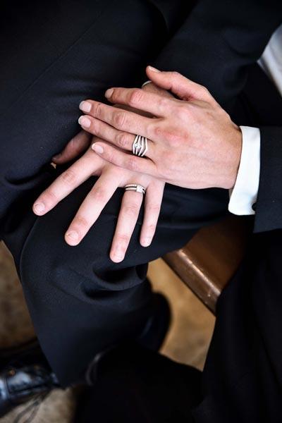 Man's Diamond Engagement and Wedding Rings   LGBTQ Wedding Ideas   Same-Sex Wedding Ideas